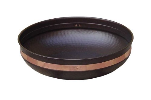 Monarch Mild Steel Powder Coated Basin with Copper Band, 14-1/2 Inch Dia