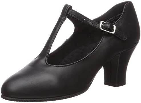 [Capezio] Women 's 700 TストラップCharacter Shoe ブラック 10.5 M