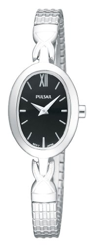 Pulsar Black Dial Stainless Steel Ladies Watch PM2005