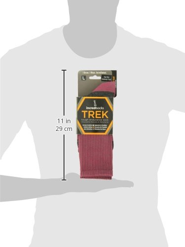 Incredisocks Warm Diabetic Compression Socks for Hiking-L-Red