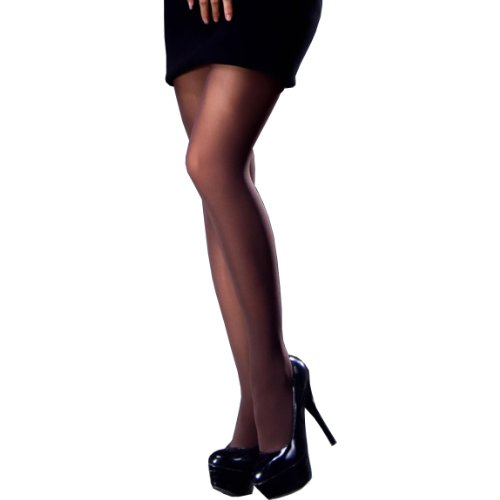 - Trasparenze Linda 40 Denier Semi-Opaque Velvet Smooth Pantyhose/Tights with Evolution Microfiber (Black, XL)