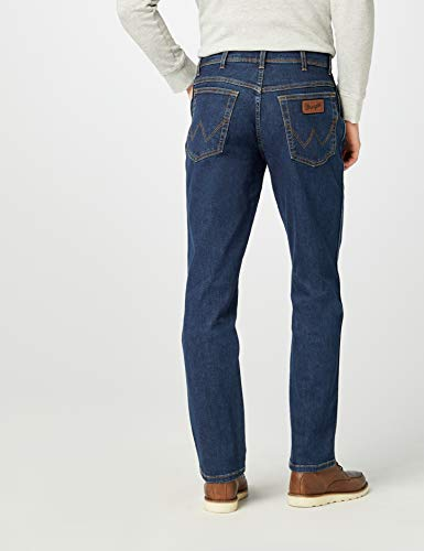Texas Blu W33 Blue Contrast Mild Jeans darkstone Wrangler Uomo l32 qSZxwZdI