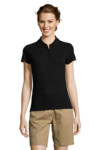child Mujer M Negro M talla Piqué People Piqué Color corta Polo 210gr punto 57wq0vw