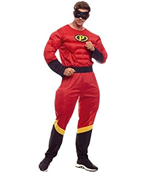 Disfraz Party Héroe hombre (S): Amazon.es: Juguetes y juegos