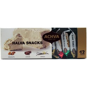 Achva Degustation Sesame Halva Snacks 10.5oz KFP - Pack of 6 by Achva