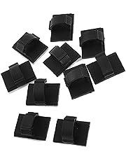 10 Stks Kabel Tie Clips Zwart Zelfklevende Backed Nylon Draad Verstelbare Kabel Clips Zelfklevende Kabel Management voor Thuiskantoor Volledig Aangepast