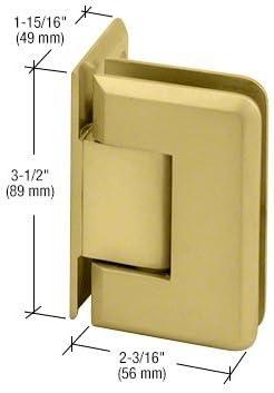 C.R LAURENCE P1N044BN CRL Brushed Nickel Pinnacle 044 Series Wall Mount Offset Back Plate Hinge