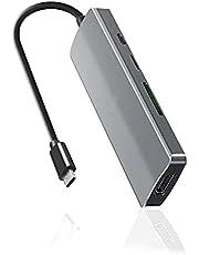 USB C Hub, Takya USB C HDMI Adapter 7 in 1 Type C Hub with 4K USB C to HDMI, 3 USB 3.0 Ports, SD TF Card Reader, USB-C Charging Port Compatible for MacBook, iMac, Surface, Chromebook, Galaxy, XPS etc