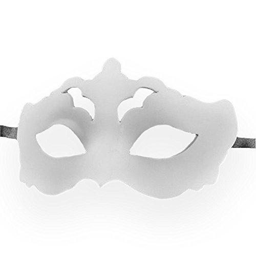 [VIVO Masks Mens White Blank Venetian Masquerade Mask] (Plain White Mask Costume)