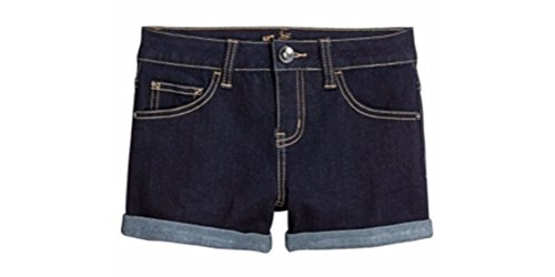 Justice Girls Roll Cuff Denim Shorts (5, Rinse wash) ()