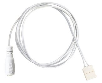 Kichler 1SL8WH Dry Tape Accessory LED Tape 8-Foot Supply Lead, White Material (Not Painted)
