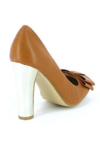 Go Tendance - Zapatillas de soft tennis para mujer marrón - marrón (camel)
