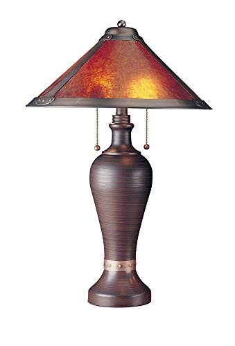 Cal Lighting BO-463 2 Light Gabriel Mica Table Light, Rust (Iron Rust Mica Wrought)