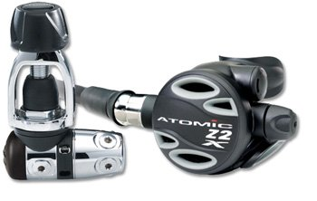 Atomic Z2X First & Second Stage Scuba Dive Diving Regulators YOKE Gray by Atomic