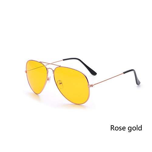 Amarilla de Aprigy Aire al conducción del Las Gafas Hombres de Negro Lente la Lentes Gafas Conductores Las de de Sol de Coche Nocturna Libre la Gafas visión Los Manera rosa oro de Mujeres 668rqU