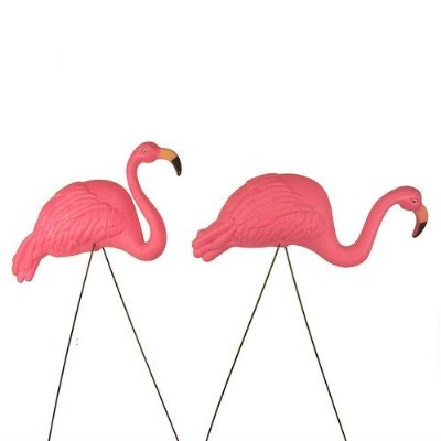 Bright Pink Flamingo Ornament 2pack