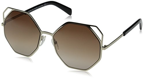 Marc by Marc Jacobs Women's MMJ479S Aviator Sunglasses, Gold & Brown Gradient, 55 mm