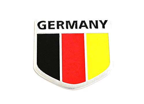 - iJDMTOY (1) Germany Black Red Yellow Badge For European Cars Audi BMW MINI Mercedes-Benz Porsche Volkswagen Decoration