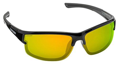 Rigide Lentilles étui Phantom Hommes avec Verres Lunettes Sport Jaune 100 UV Protection Premium Polarisées Noir Cressi Soleil de Ca6gnq