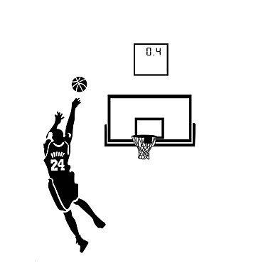 A-Wall Stickers Baloncesto tiros Bola Pegatinas Vinilo Pared ...