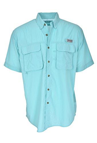 (Bimini Bay Outfitters Bimini Flats III Short Sleeve Shirt Aqua)