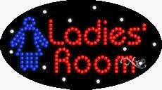 Ladies' Room2 LED Sign - 15 x 27 x 1 inches - Made in USA by Bright Neon Signs