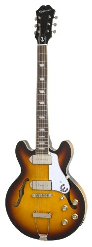 Epiphone CASINO Coupe Thin-Line Hollow Body Electric Guitar, Vintage Sunburst by Epiphone