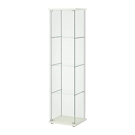 Amazon.com: Ikea Detolf Glass Curio Display Cabinet White: Kitchen ...
