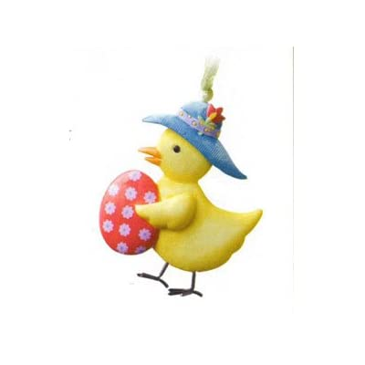 Longaberger Easter Three Dimensional Chick with Egg Basket Tie On New In Box: Home & Kitchen