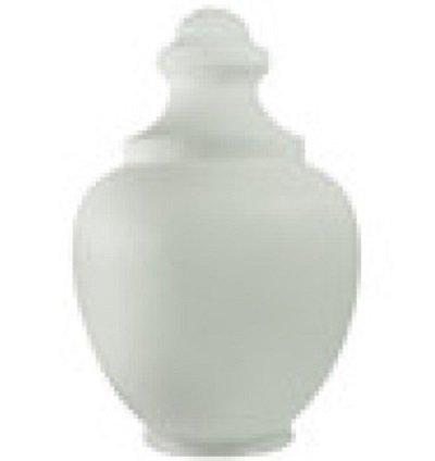 17 Inch White Polyethylene Macho Acorn Lamp Post Globe with 6 Inch Neck