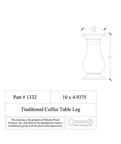 House of Wood Coffee Table Legs in Knotty Pine (Set of 4) by Osborne Wood Products (Image #3)