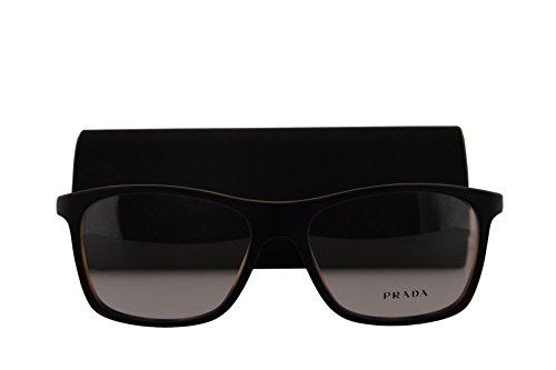 Prada PR05SV Eyeglasses 55-17-140 Top Black Matte Tortoise w/Demo Clear Lens UBH1O1 VPR05SV VPR 05SV PR - Sale Eyeglasses Prada