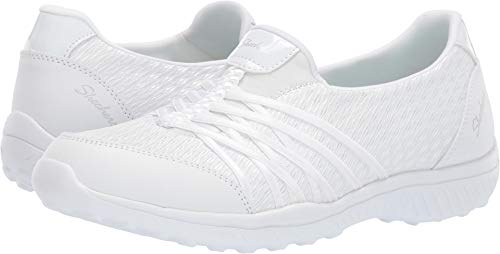 Skechers Be Light Good Story Womens Slip On Sneakers White 9