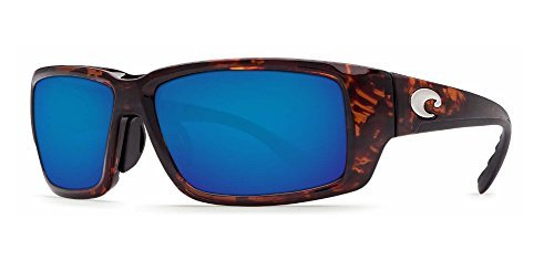 Costa Del Mar Fantail 580G Fantail, Tortoise Frame Global Fit Blue Mirror, BLUE - 580 Costa Fantail