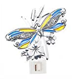 Colorful Metal Dragonfly NightLight by Ganz