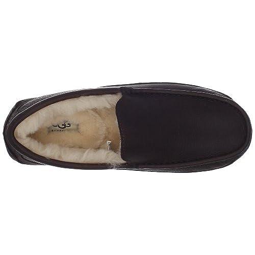ugg australia men's ascot leather slippers china tea