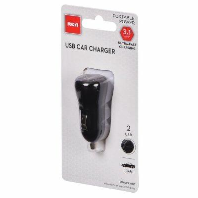 Audiovox MINIME231BZ RCA 2-USB Mini Car Charger - Quantity 1