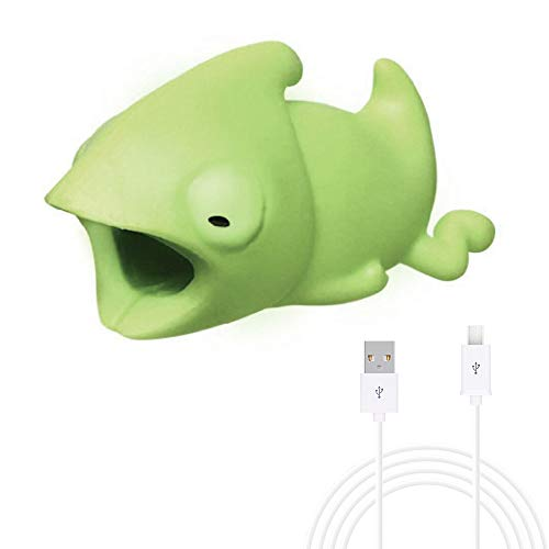 Joint Cable Line Bite for Mirco USB Cable Cord Animal Phone Accessory Protects Cute Protector (Chameleon with Mirco USB - Accessory Hdmi Cable