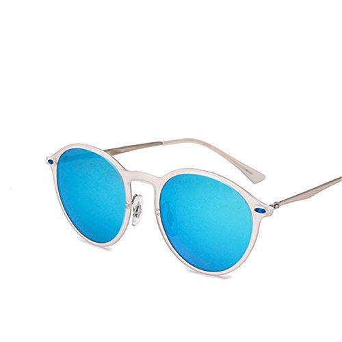 Dormery Polarized Sunglasses Women Round Oculos De Sol Apparel Accessories Eyewear Men Sun Glasses for women C05 Transparent Blue