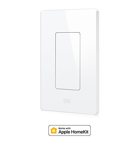 Eve Light Switch - Connected Wall Switch, easily upgrade to intelligent, automate your lighting with timers and rules, Bluetooth Low Energy, white (Apple HomeKit, iOS) - 10027805