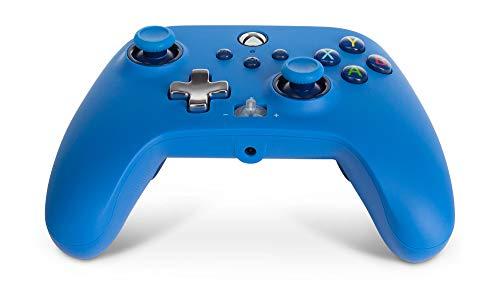 PowerA Enhanced Wired Controller para Xbox - Azul, Gamepad, Controlador de videojuegos con cable, Controlador de juegos, Xbox Series X   S, Xbox One - Xbox Series X