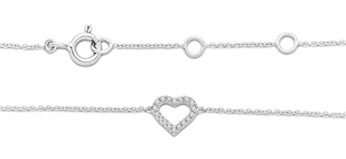 Miore - Bracelet - Or blanc 9 cts - Diamant 0.07 cts - 18 cm