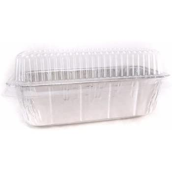 Amazon Com Disposable Aluminum 2 Lb Loaf Pan With Clear