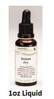 Newton Labs Homeopathics Remedy Poison Ivy 1oz Liquid (2 Pack) (Ivy Poison Homeopathic Remedies)