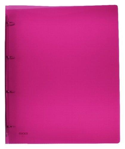 exxo by HFP - Archivador (4 anillas plástico para hasta 40 hojas con auto-adhesivos lomo, color rojo translúcido 320 x 250 mm: Amazon.es: Oficina y ...