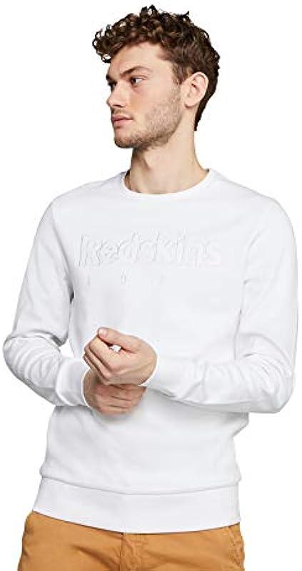 Redskins Męskie Larry Loft Pullover, White, Large: Odzież