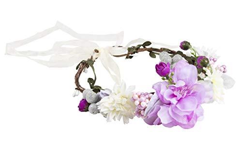 Flower Headband - Adjustable Floral Wreath Headband, Crown