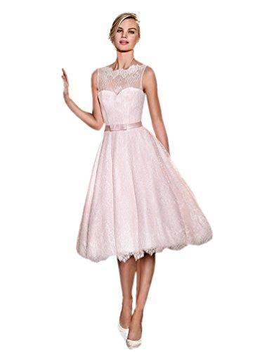 Engerla - Vestido - trapecio - para mujer Hell-Pink