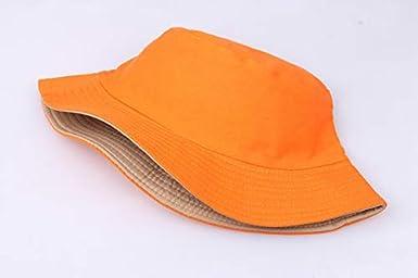 Solid Bucket Sun-Hat Cotton Unisex Sun Protection Bonnie Fisherman Hat Summer Packable