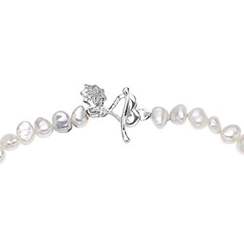 Dower & Hall - PB21B-S-WP - Bracelet Femme - Argent 925/1000 2.2 Gr - Perle - Perle d'eau douce